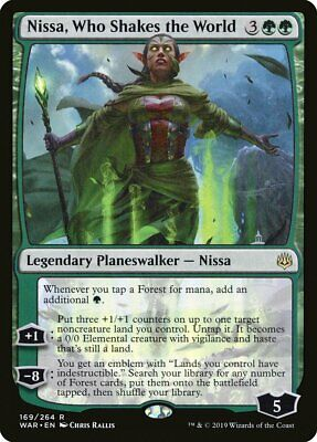 Stained Glass Nissa Who Shakes The World Secret Lair MINT FOIL