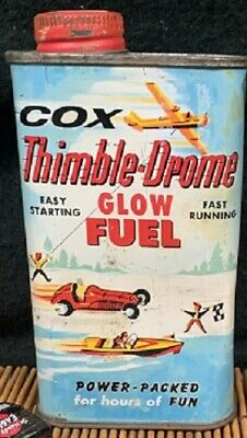 Vintage Advertising Hobby Supplies Flying Toys Vintage Toys Thimble-Drone Glow Fuel Can Man Cave Decor Collectible Can