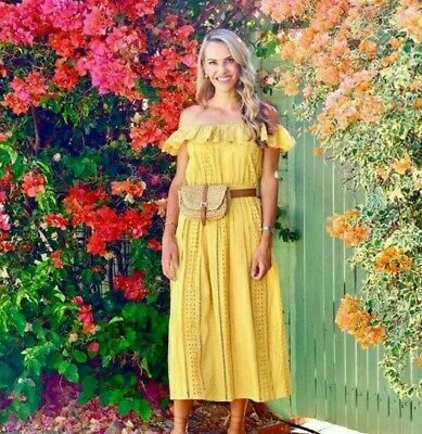 Details about  /NWT ZARA MUSTARD FLORAL PLEATED PRINT DRESS 6895//042 Sz-S