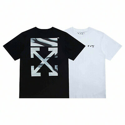 Off White 2021//SS New Style Arrow oil painting gradient printing T-shirt 2276