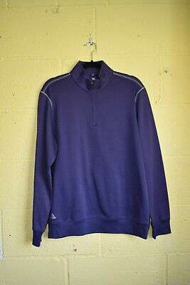 Mens Purple Golf Jumper By Adidas Climalite Size Medium Used Condition