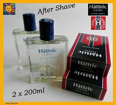 Hattric Classic After Shave 2 x After Shave Glass Bottle Original New