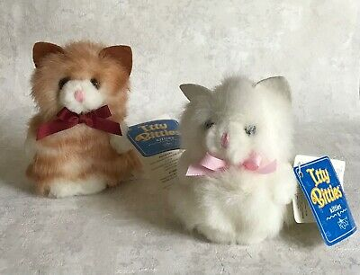NEW 4in tiger /& orange stripe Details about  /Russ Berrie plush Itty Bitty Kitty 2pc set #522