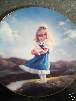 '92  JUST YOU AND ME Little Girl & Rabbit Ltd Ed Plate