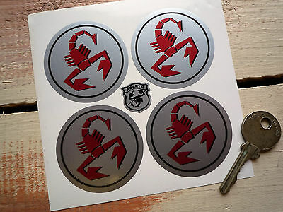 ABARTH Scorpion style wheel centre car auto stickers