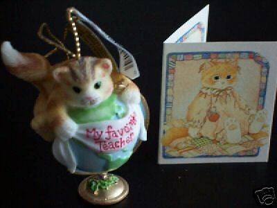 "Enesco Calico Kittens ""favorite Teacher"" Ornament - Nib"