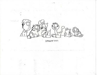 Garfield ~ 48 Page Set Of Model Sheets With Multiple Images Of All Characters