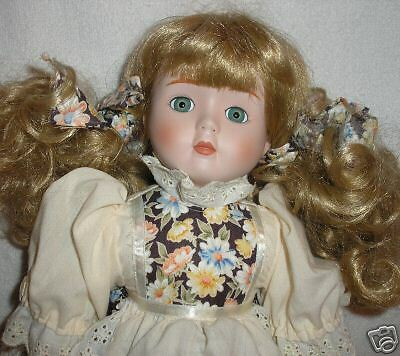 Musical Porcelain Doll - Cute doll with floral dress