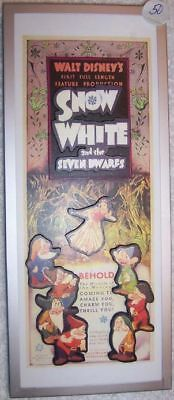 SNOW WHITE FRAMED 1-OF-A-KIND 3D MOVIE POSTER SCULPTURE