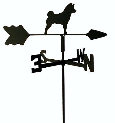 Shiba Inu Garden Style Weathervane Black Wrought Iron Look Made In Usa Tls1036In