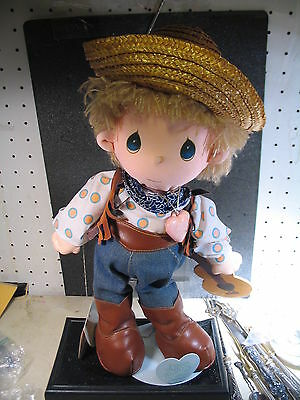Precious Moments '85 MICKEY COWBOY DOLL WITH GUITAR  w/ Doll Stand
