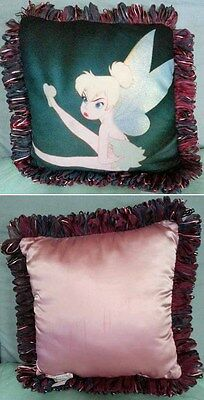 New Tinker Bell Disney Tink Vintage Movie Poster Art Pillow Tinkerbell