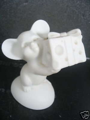 Hallmark 1975 MOUSE HOLDING CHEESE  Little Gallery