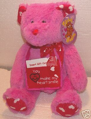Red Gift Card Stuffer Teddy Bear! 14 inches tall! New!