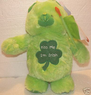 "St. Patrick's Day Kiss Me I'm IrishTeddy Bear 14"" tall!"
