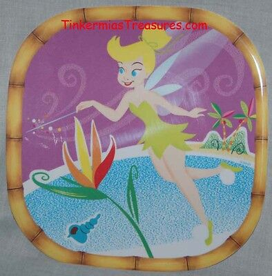 CUTE TINKER BELL SQUARE MELAMINE PLATE TINKERBELL TINK