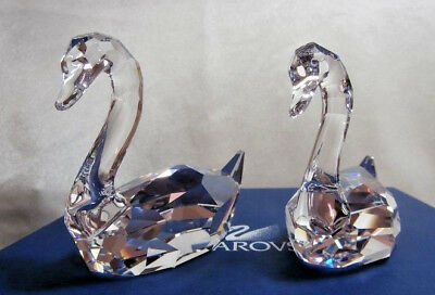 "Swarovski Crystal ""flirting Swans"" 837154 Feathered Mib"