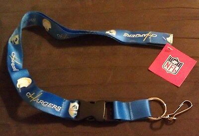 ~ Los Angeles Chargers Throwback Lanyard - Nfl Licensed ~