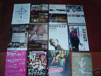 CHLOE SEVIGNY Japanese flyer/poster x6 BROWN BUNNY Party Monster DOGVILLE Zodiac