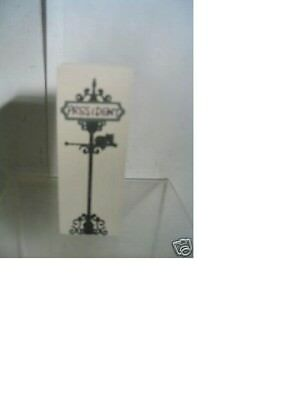 Cat's Meow PRESIDENT AVE STREET SIGN (2 sided -2nd side no name)  Accessory