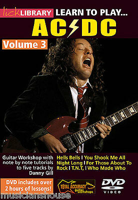 LICK LIBRARY Learn to Play AC/DC 3 Angus Young Tutor ROCK LESSON Song Guitar DVD