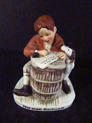 Norman Rockwell  Miniature NR 206 THE LOVE LETTER Boy & Dog  Figurine  1979