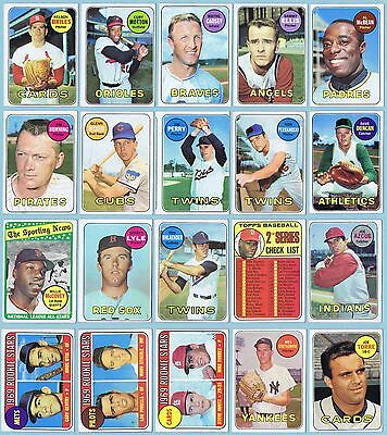 LOT of 20 - 1969 TOPPS BASEBALL w/ #311 SPARKY LYLE (R)