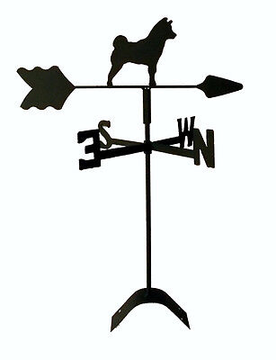 shiba inu weathervane black wrought iron look roof mount made in usa TLS1036RM
