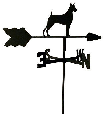 Boxer Garden Style Weathervane Wrought Iron Look Made In Usa Tls1005In