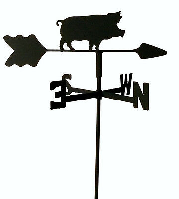 Pig  Hog Garden Style Weathervane Black Wrought Iron Look  Made In Usa Tls1032In