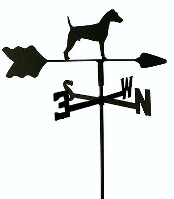 Jack Russell Terrier Garden  Weathervane Wrought Iron Look Made In Usa Tls1028In