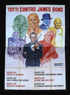 JAMES BOND * CineMasterpieces ITALIAN 4P FILM FESTIVAL ORIGINAL MOVIE POSTER