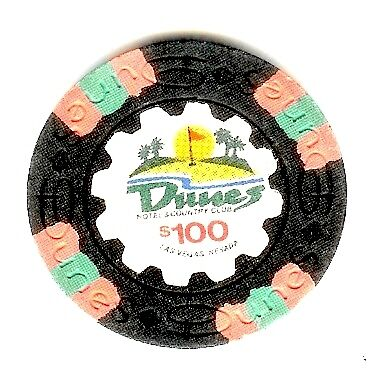 $100 Dunes Casino Chip. Obsoleted.  Las Vegas, NV
