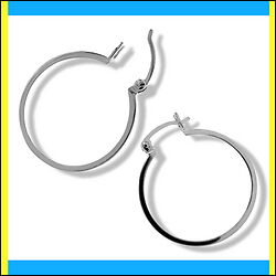 28mm Sterling Silver Hoop Earrings Retail Value $175.00
