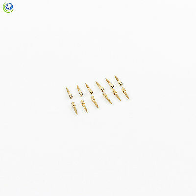 Dental Gold Plated Screw Posts Conical Cross Head Refill Size Short 4 S4 12/Box
