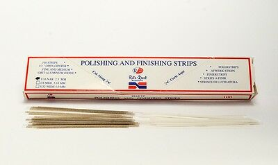 Dental Polishing Strips Narrow 2.5mm Polyester Fine/Medium Grit One-Side 100/Box