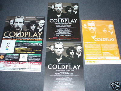 COLDPLAY Japan flyer CD Twisted Logic Tour X&Y promo x4