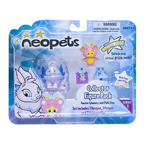 Neopets Collector Figure Faerie Cybunny Pink Ona Ser. 1