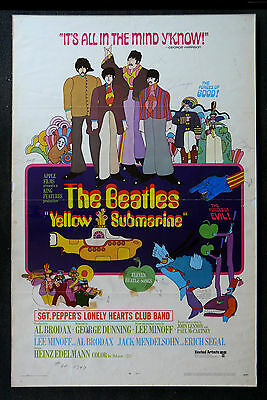 YELLOW SUBMARINE * CineMasterpieces ORIGINAL MOVIE POSTER BEATLES MOCK UP 1968