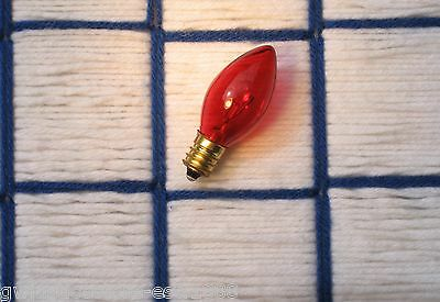 BOX of 24 } TWINKLe Orange AMBER Tint blinking flashing CHRISTMAS LIGHT bulb C7