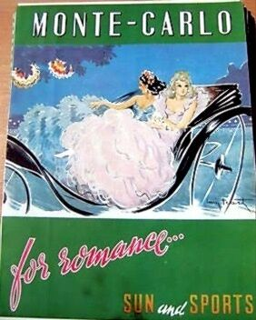 French Magazine Ad 1948 Monte-Carlo Tourism By Icart