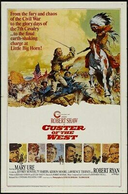 CUSTER OF THE WEST MOVIE POSTER Mary Ure RARE VINTAGE