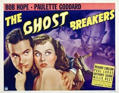 THE GHOST BREAKERS MOVIE POSTER Bob Hope RARE VINTAGE 2