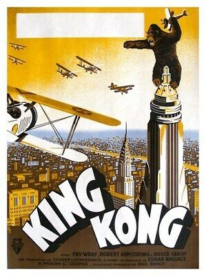 KING KONG MOVIE POSTER - RARE CLASSIC VINTAGE 9