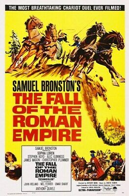 THE FALL OF THE ROMAN EMPIRE MOVIE POSTER Vintage 1
