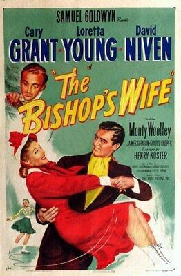 THE BISHOP'S WIFE MOVIE POSTER Cary Grant HOT VINTAGE 1