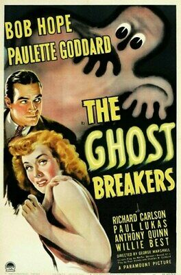 THE GHOST BREAKERS MOVIE POSTER Bob Hope RARE VINTAGE 1