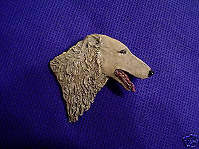 Borzoi or Russian Wolfhound Pin 17i painted dog jewelry