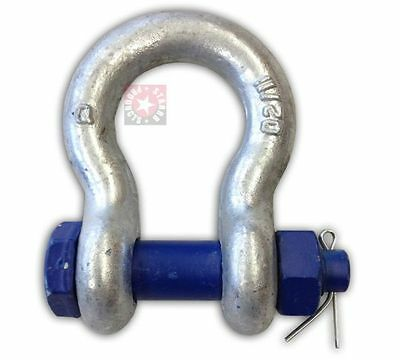 "1 1/8"" Shackle Clevis Safety Pin Peer 9 1/2 Ton Tow Axle Lifting Chain Tie Down"