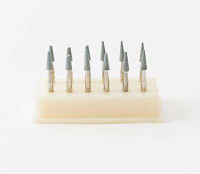Dental Abrasive Polishing Finishing Mounted Stones Point Green RA Conical 12pack